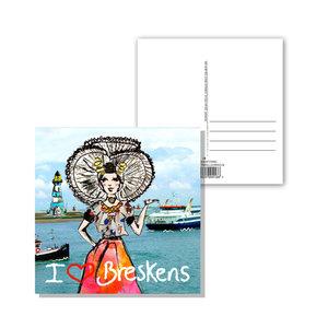 Zeeuwse ansichtkaart  Zeeuws meisje Breskens
