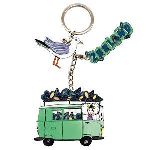 Sleutelhanger groene bus