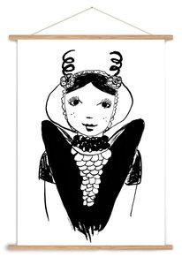 A3 poster Zeeuws meisje Axel