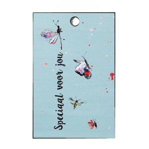 Cadeaulabel vlinders voor jou